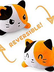 cheap -Reversible Cat Plushie Stuffed Animal Mood Plush Double-Sided Flip White and Black Show Your Mood Without Saying a Word
