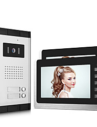 cheap -XINSILU XSL-V70L-B Wired 7 inch Hands-free 800*480 Pixel One to Two video doorphone