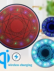 cheap -10w Universal Magic Circle Wireless Charger Qi Magical Wireless Fast Quick Charging Pad for iPhone 12 Pro Max 11 Pro X XS 8 Samsung S21 S20 Xiaomi Huawei and Other Smart Devices