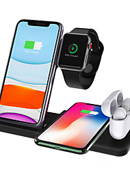 cheap -Wireless Charger 4-in-1 15W Fast Wireless Charger Station Charging for Apple Watch Air pods iPhone 12/11pro/X/XS/XR/Xs Max/8/8 Plus Qi Wireless Charger Stand Charge for Samsung Galaxy S21 S20 and More