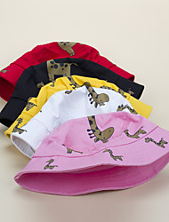 cheap -1pcs Kids Unisex Basic Birthday / Casual / Daily Wear Cartoon / Animal Stylish Cotton Hats & Caps White / Black / Red S