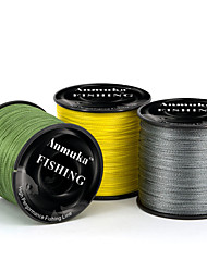 cheap -PE Braided Line Dyneema Superline 4 Strands Abrasion Resistant Fishing Line 300M / 330 Yards Light Yellow, White, Red
