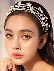 cheap -Cute Imitation Pearl / Alloy Headbands with Imitation Pearl / Metal 1 set Wedding / Party / Evening Headpiece