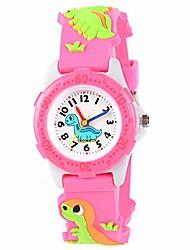 cheap -venhoo kids watches cute 3d cartoon waterproof silicone children toddler wrist watch for 3-10 year girls little child-pink dinosaur