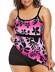 cheap -bkolouuoe women's plus size two piece bathing suits printed strappy swimsuit bikini tankini set swimwear beachwear hot pink