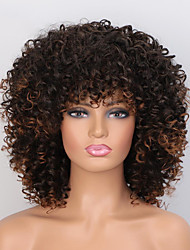 cheap -Synthetic Wig Afro Curly Short Bob Wig Short A10 A11 A1 A2 A3 Synthetic Hair Women's Cosplay Party Fashion Black Brown