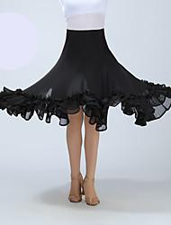 cheap -Ballroom Dance Skirts Ruffles Women's Training Performance High Polyester