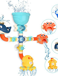 cheap -DIY Pipes Tubes with Spinning Waterfall Bathtub Pool Toys Water Pool Bathtub Toy Bath Toys STEAM Toy Plastic Bathtime Bathroom for Toddlers, Bathtime Gift for Kids & Infants / Kid's