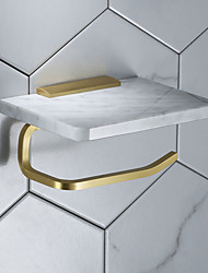 cheap -Marble Tissue Holder Household Toilet Roll Holder Wall-mounted Mobile Phone Rack