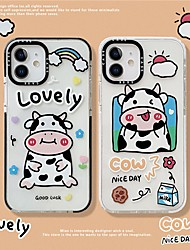 cheap -Phone Case For Apple Back Cover iPhone 12 Pro Max 11 SE 2020 X XR XS Max 8 7 Pattern Cartoon Animal TPU