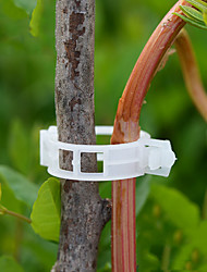 cheap -50pcs Reusable 25mm Plastic Plant Support Clips clamps For Plants Hanging Vine Garden Greenhouse Vegetables Tomatoes