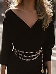 cheap -Waist Chain Baroque European Women's Body Jewelry For Gift Date Cross Body Alloy Sun Golden Silver 1 PC