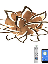 cheap -5/9/12/15 Heads LED Ceiling Light Includes Dimmable Version Modern Metal Acrylic Stepless Dimming Remote Control Flush Mount Ceiling Lamp Bedroom Painted Finish Pendant Lighting AC110V AC220V