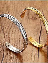 cheap -Women's Bracelet Bangles Classic Fashion Fashion Titanium Steel Bracelet Jewelry Gold / Silver For Anniversary Date Birthday Festival