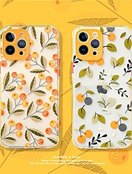 cheap -Floral Patterned Phone Case For Apple iPhone 12 11 SE2020 Shockproof Protective Case TPU Cover for iPhone 12 Pro Max XR XS Max iPhone 8 7