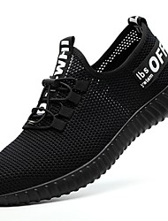 cheap -Men's Sneakers Daily Outdoor Safety Shoes Tissage Volant Breathable Non-slipping Shock Absorbing Wine Black Spring Summer