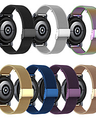 cheap -1 Pcs Watch Band Stainless Steel Magnetic Mesh Milanese Loop watch strap suitable for 18mm 20mm 22mm  Samsung Garmin  Fitbit Huawei Xiaomi Fossil Nokia Wrist Strap