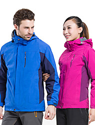 cheap -Men's Hiking 3-in-1 Jackets Outdoor Thermal Warm Breathable 3-in-1 Jacket Top Camping / Hiking Climbing Blue Red Dark Navy LightBlue Coffee