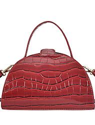 cheap -Women's Bags Top Handle Bag Saddle Bag Date Office & Career 2021 MessengerBag White Black Red Brown