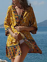 cheap -Women's Cover Up Swimsuit Geometric Yellow Swimwear Bathing Suits