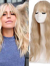 cheap -Synthetic Wig Deep Wave Middle Part Neat Bang Wig Medium Length A15 A16 A17 A18 A10 Kanekalon Women's Cosplay Party Fashion Blonde