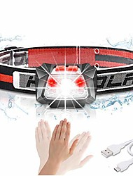 cheap -aomees headlamp, rechargeable, for children and adults, with led, usb, running, dog walks, cycling, camping, fishing (with battery)