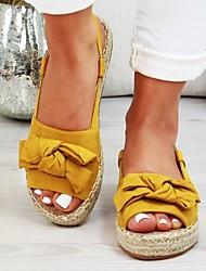cheap -Women's Flats Flat Heel Round Toe PU Leopard Yellow Blue Pink