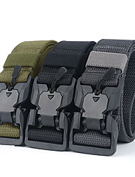 cheap -Men's Plastic Buckle Belt Military Tactical Belt Breathable Wearable Protective for Camping / Hiking Hunting Fishing Solid Colored Camo Nylon Canvas Woven Autumn / Fall Spring Summer