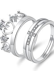 cheap -Adjustable Ring Classic Copper Heart Elegant Classic 1 set Adjustable