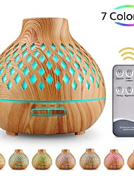 cheap -Hollow Humidifier Colorful Air Purifier Wood Grain Aroma Diffuser