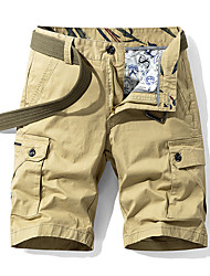 """cheap -Men's Hiking Shorts Hiking Cargo Shorts Military Solid Color Summer Outdoor 10"""" Comfort Ripstop Breathable Soft Cotton Knee Length Shorts Red Blue Khaki Green Work Hunting Fishing 28 29 30 31 32"""