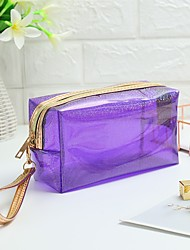 cheap -Women's Bags Polyester Cosmetic Bag Zipper Solid Color Outdoor 2021 Handbags Black Blue Purple Red