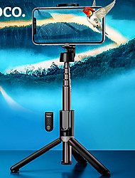 cheap -Hoco K11 Adjustable Selfie Stick Phone Holder Bluetooth Remote Extendable Max Length 68cm Youtube Tiktok Selfie Stick For Mobile Phone Holder Video Stand Universal Android / iOS