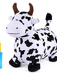 cheap -Bouncy Pals Cow Hopping Horse, Outdoor Ride On Bouncy Animal Play Toys, Inflatable Hopper Plush Covered with Pump, Activities Gift for 18 Months 2 3 4 5 Year Old Kids Toddlers Boys Girls