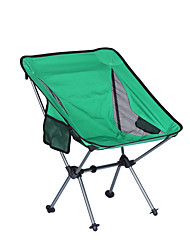 cheap -Beach Chair Camping Chair with Side Pocket Portable Ultra Light (UL) Foldable Washable Aluminum Alloy Oxford for 1 person Fishing Camping Camping / Hiking / Caving Outdoor Autumn / Fall Spring Green
