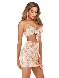 cheap -cross-border amazon wish european and american women's nightclub sling two-piece suit skirt sexy bag hip sequin dress