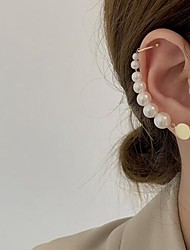 cheap -Women's Single Earring Stylish Simple Imitation Pearl Earrings Jewelry White For Date Festival 1pc