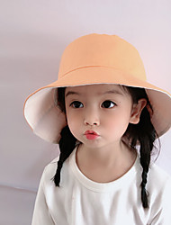 cheap -1pcs Kids Unisex Basic Birthday / Casual / Daily Wear Solid Colored Stylish Cotton Hats & Caps Black / Yellow / Blushing Pink S