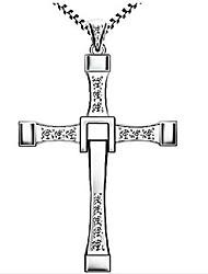 cheap -reisjewelry 925 sterling silver religious dominic toretto's cross pendant neckalce (dominic toretto's cross)