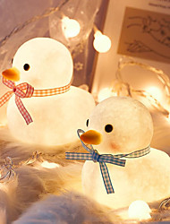 cheap -Mini 3D Cartoon Duck Led Night Lights Cute Home Bedside Lamp For Kids Toy Gift Table Decor Lighting