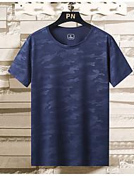 cheap -Women's T shirt Hiking Tee shirt Short Sleeve Tee Tshirt Top Outdoor Lightweight Breathable Quick Dry Sweat wicking Spring Summer [Men's]Gray [Female models] orange [Female models] lake blue Fishing