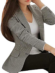 cheap -Women's Coat Square Others Casual Polyester Casual / Daily Coat Tops Photo Color