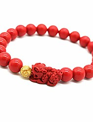 cheap -tikkii feng shui wealth bracelet red pi xiu/pi yao beads amulet bracelet wealth attract lucky bangle for women and men (8mm)