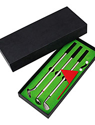 cheap -Golf Pen Set Mini Desktop Golf Ball Pen Gift Set Includes Putting Green Three Golf Clubs Pen Golf Balls and Golf Flag Golf Gifts for Adults Children Tabletop Sports Decor Accessories Black Green