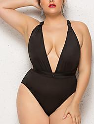 cheap -Women's One Piece Swimsuit Criss Cross Swimwear Bathing Suits Black
