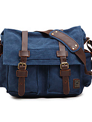 cheap -Men's Bags Canvas Briefcase Solid Color Daily Canvas Bag Dark Brown Earth Yellow Black Blue