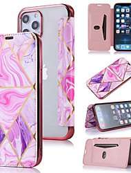 cheap -Phone Case For Apple Full Body Case Flip iPhone 12 Pro Max 11 SE 2020 X XR XS Max 8 7 Shockproof Flip Marble PU Leather TPU
