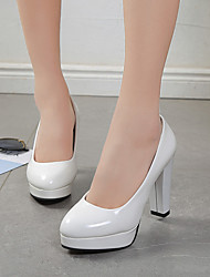 cheap -Women's Heels High Heel PU Solid Colored White Black Red