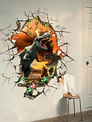 cheap -Dinosaur Wall-Through Children's Room Bedroom Living Room Wall Sticker Wholesale Removes Mural Paste 50x50cm