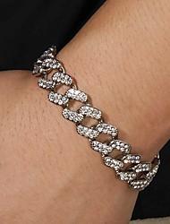 cheap -Bracelet Cuban Link Heart European Alloy Bracelet Jewelry Gold / Silver For Birthday